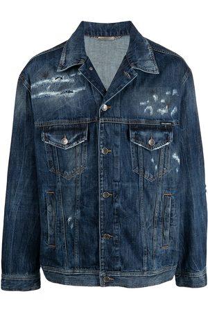 Dolce & Gabbana Jeansjacka med slitning