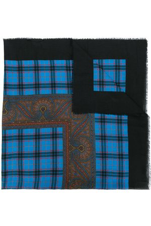 Yves Saint Laurent Contrast pattern scarf
