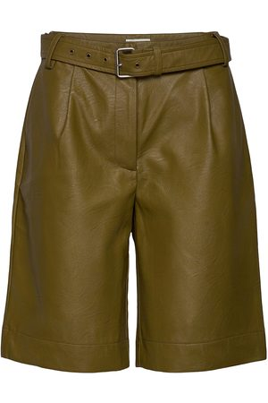 Six Ames Kvinna Shorts - Albertha Shorts Leather Shorts Grön