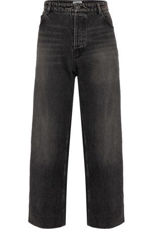 Balenciaga High-rise wide-leg organic cotton jeans
