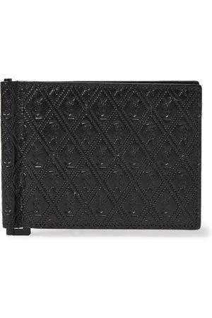 Saint Laurent Man Plånböcker - Logo-Debossed Leather Wallet with Money Clip