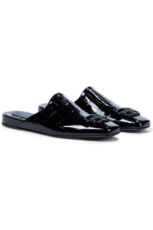 Balenciaga Cosy BB patent leather slippers