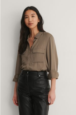 NA-KD Soft Double Pocket Shirt