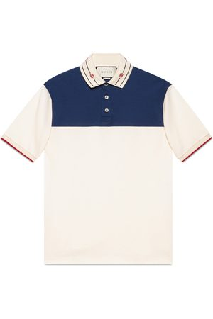 Gucci Cotton polo with embroidered collar