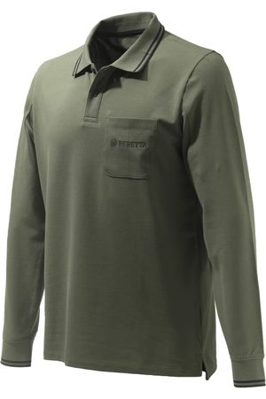 Beretta Men's Airmesh Polo Long Sleeve