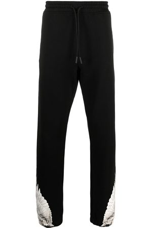 MARCELO BURLON WINGS REGULAR SWEATPANTS BLACK WHITE