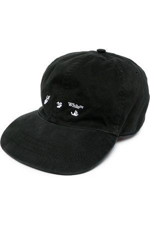 OFF-WHITE OW LOGO BASEBALL CAP BLACK WHITE