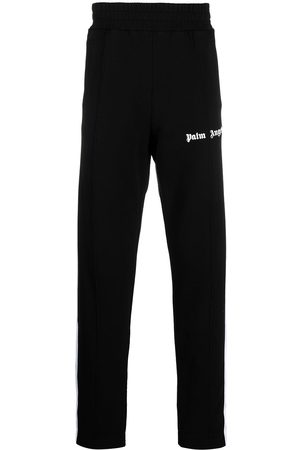 Palm Angels FLEECE TRACK PANTS BLACK WHITE