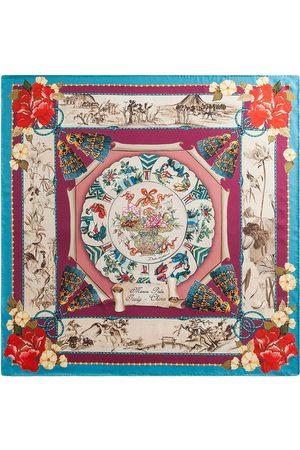 Dolce & Gabbana Silk Road-print silk-twill scarf