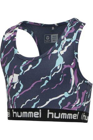 Hummel Flicka Tränings t-shirts - Träningstopp - hmlMimmi - Mörkgrå m. Mönster