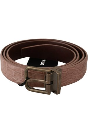 Dolce & Gabbana Exotic Skin Buckle Leather Belt