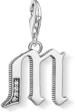 Thomas Sabo Halsband - Charm-hängsmycke bokstaven M silver