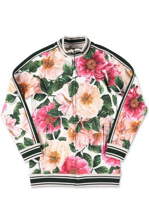 Dolce & Gabbana Power Pastel cotton camellia sweatshirt