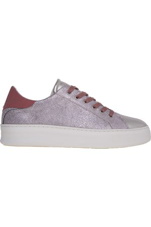 Crime london Printed leather sneakers