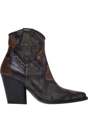 Lemaré Texan ankle boot in python print leather