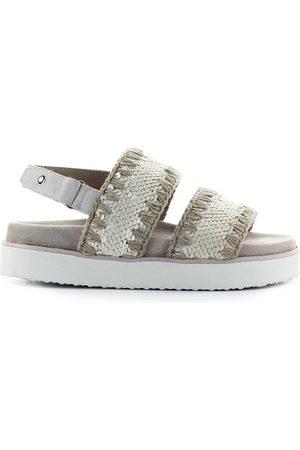Mou Ivory Sequins Sandal