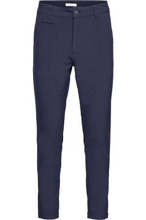 Knowledge Cotton Apparal Joe Classic Ecovero™ Club Pant - Gr Chinos Byxor Blå