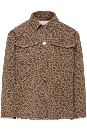 KIDS ONLY Konmaya Life Leo L/S Shacket Otw Outerwear Jackets & Coats Denim & Corduroy Brun