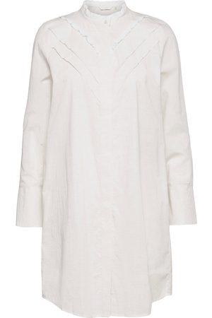 Numph Nucelie Long Shirt Tunika Vit