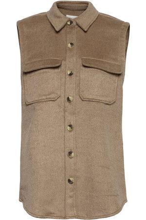 Object Objvera Owen S/L Vest A Div Vests Knitted Vests Brun