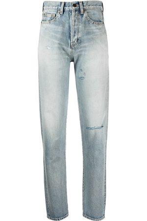 Saint Laurent Kvinna High waist - Slitna jeans med hög midja