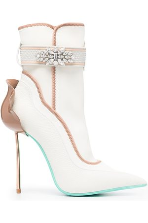 Le Silla Crystal-embellished ankle boots