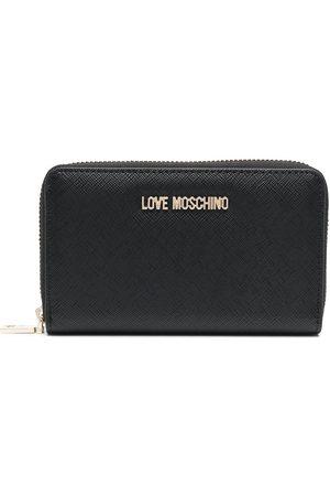 Love Moschino Logo-plaque zip-around wallet