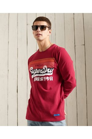 Superdry Man Linnen - Vintage Logo Cali randigt linne