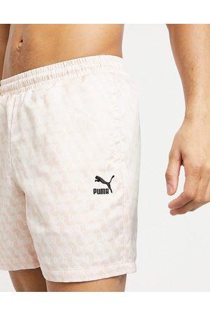 Puma – Summer Luxe – 6-tum långa shorts i satin-Pink