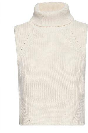 Scotch&Soda Kvinna Chunky Layering Knit Vests Knitted Vests Creme