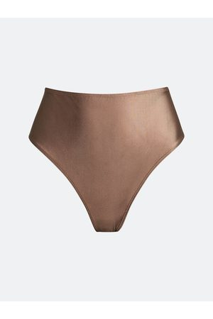 Bik Bok Her [comfort] string panties - Chokladbrun