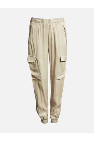 Bik Bok Shine cargo trousers - Kakibrun