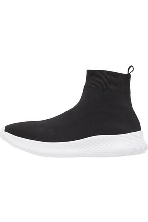 Bianco Tvåa Stickade Sneakers Man