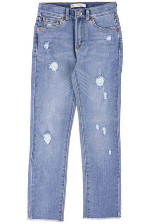 Levi's Flicka Straight - Jeans - High Rise Ankle Straight - Blå Denim