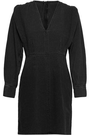 Norr Vita Short Denim Dress Dresses Jeans Dresses