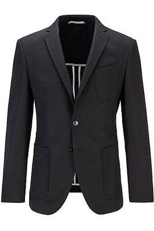 HUGO BOSS Extra-slim-fit jacket with tonal monogram pattern