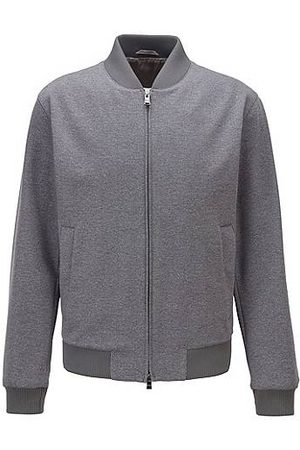 HUGO BOSS Blouson-style slim-fit jacket in micro-patterned fabric