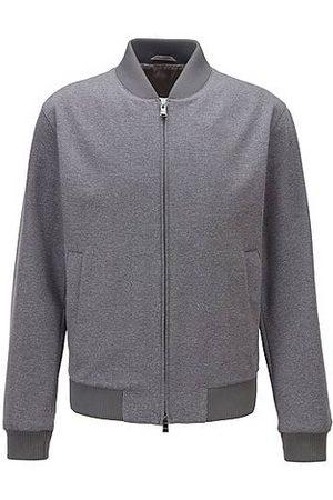 HUGO BOSS Blouson-style slim-fit jacket in micro-patterned fabric