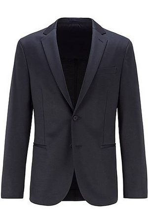HUGO BOSS Slim-fit jersey jacket with micro pattern