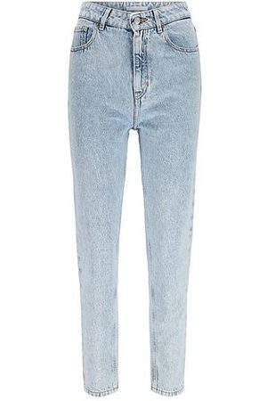 HUGO BOSS Relaxed-fit jeans in pure-cotton bleached denim