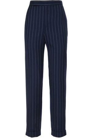 Ralph Lauren Kvinna Utsvängda byxor - Wool Wide Stripe Suit Pants