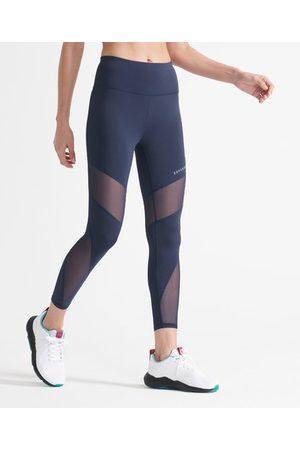 Superdry Sport Training 7/8-leggings i meshtyg