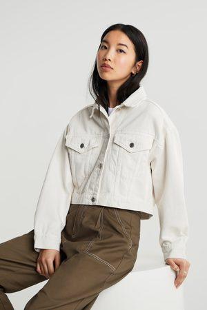 Gina Tricot Kvinna Jeansjackor - Cropped denim jacket