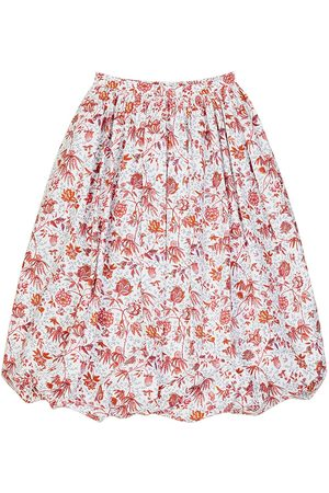 Patou Kvinna Mönstrade kjolar - Floral Printed Poplin Puff Skirt