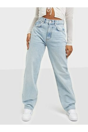 Gina Tricot 90s High Waist Jeans Straight Sky Blue