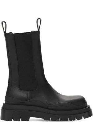 Bottega Veneta Kvinna Boots - 50mm Bv Tire Leather Beatle Boots