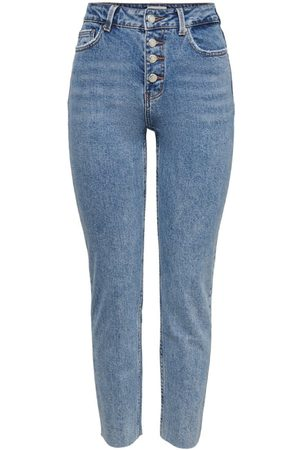 Only Onlemily Life Hw Cropped Straight Fit-jeans Kvinna