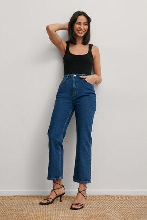 Matiamu By Sofia x NA-KD Kvinna Jeans - Recycled Croppad Denim