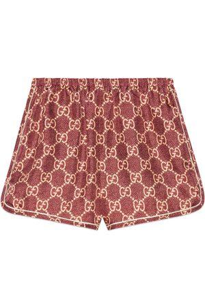adidas GG Supreme print silk shorts