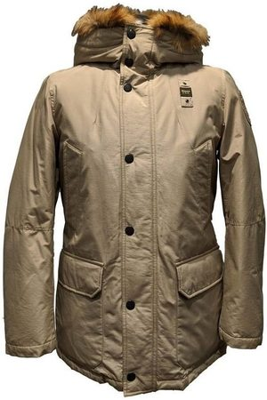 Blauer Trench Impermeable